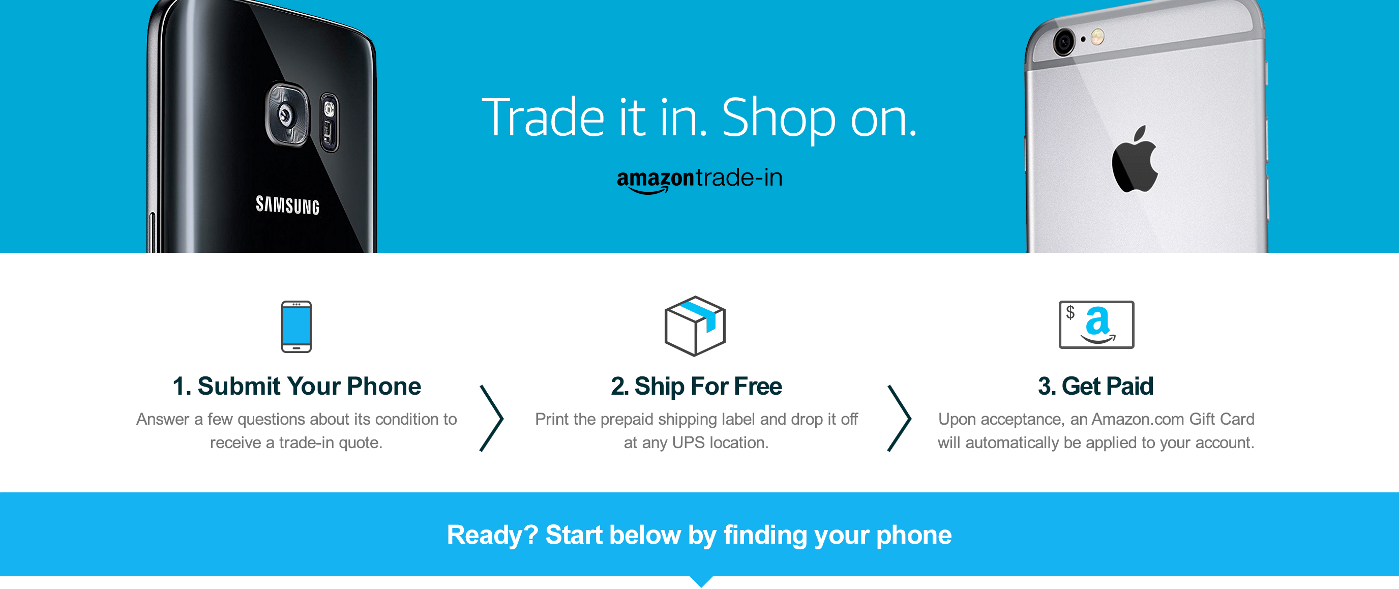 Trade it in. Shop on.