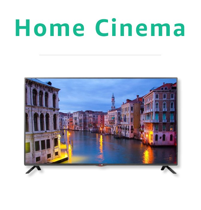 Certified Refurbished Home Cinema and TV