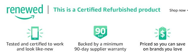 Shop Certified Refurbished products on Amazon Renewed
