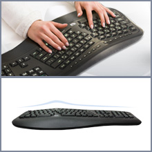 lovely Adesso Tru-Form 150 3-Color Illuminated Ergonomic Keyboard ...