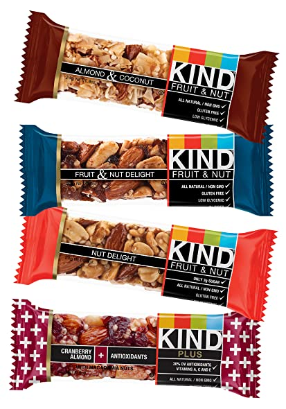 Amazon.com : KIND Minis Variety Count, 0.8 Ounce, 12 Count ...