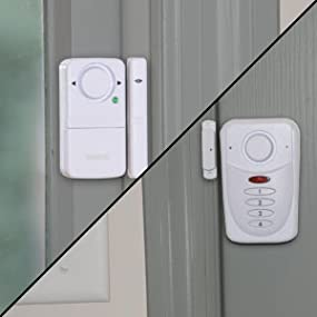 SABRE Wireless Home Security Burglar Alarm Set - Includes LOUD 120 dB Keypad Alarm with Three Additional Door/Window Alarms - DIY EASY Installation Security Equipment [SECCA]