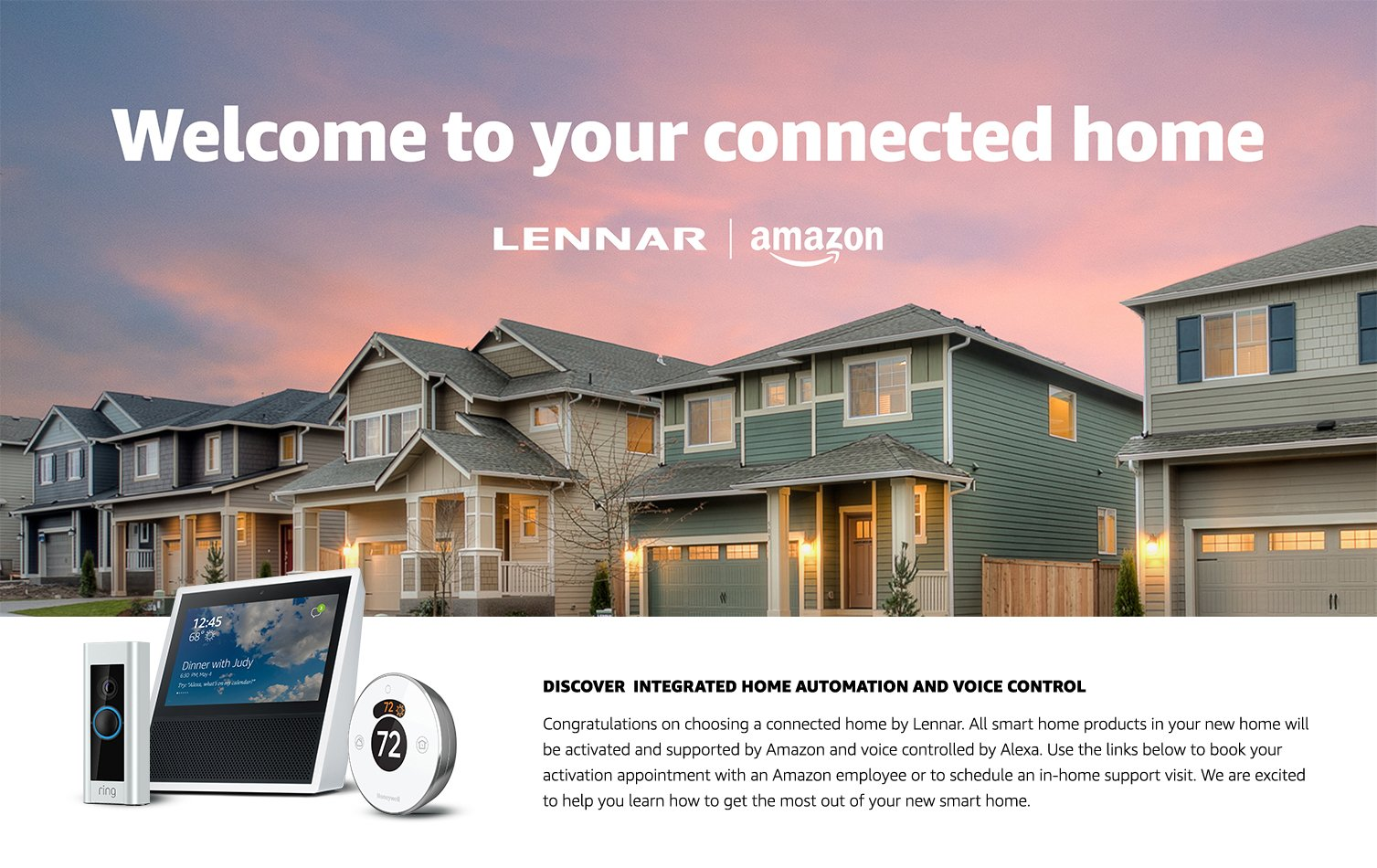 Welcome to your connected home