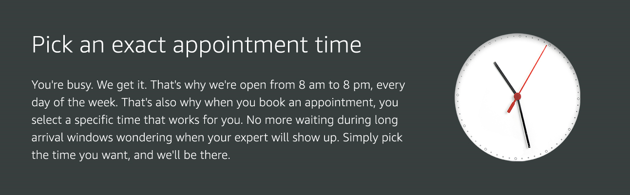 Pick an exact appointment time