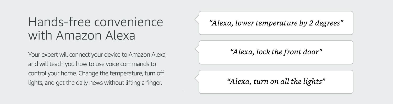 Hands-free convenience with Amazon Alexa