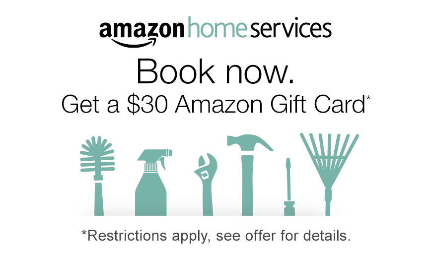 Home Services Holiday Promotion - Get a $30 Amazon Gift Card