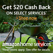 Amazon Home Services: Get $20 cash back savings when you book another service
