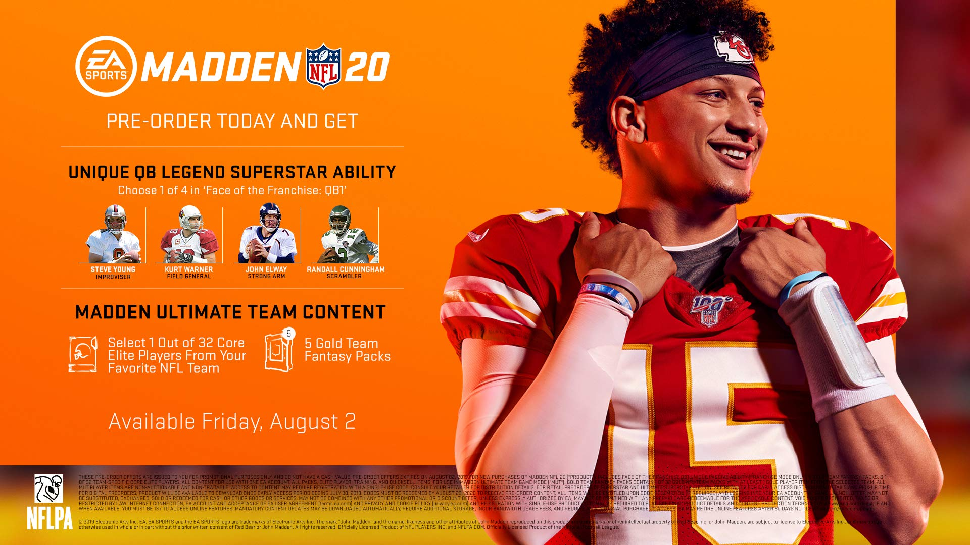 8d2b89a4a79 Pre-order bonus: Pre-order the Madden NFL 20 Superstar Edition and receive  5 Gold Team Fantasy Packs, Your Choice of 1 out of 32 core Elite Players  from ...