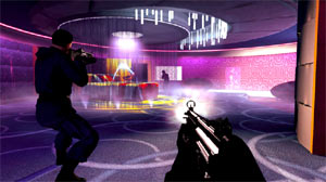 Targeting enemies in your gun sights in James Bond: 007 Legends