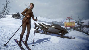 On the slopes with a bond girl in James Bond: 007 Legends
