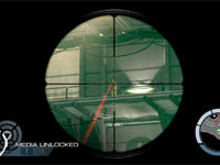 Targeting enemies through a gun scope in James Bond: 007 Legends