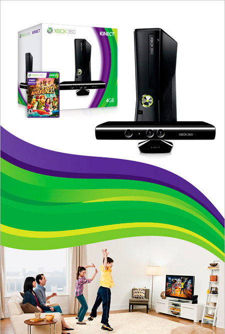 Xbox 360 4gb console with kinect unknown video games - Xbox 360 console with kinect ...