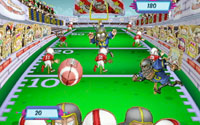 Football toss mini-game from 'Six Flags Fun Park'