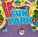 'Six Flags Fun Park' game logo