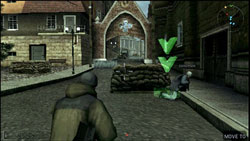 Commands performed with in-game arrows in SOCOM US Navy SEALs Fireteam Bravo 3