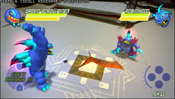 Two monsters battling in InviZimals