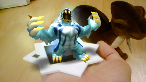 captured monster literally in the palm of your hand in InviZimals