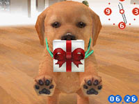 Puppy trying to give you a present in Nintendogs Lab & Friends