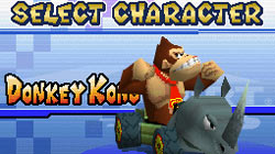 Character selection screen in 'Mario Kart DS'