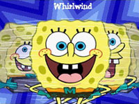 SpongeBob using his whirlwing power in Spongebob Squarepants The Yellow Avenger
