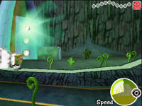 Platforming gameplay with super hero speed in Spongebob Squarepants The Yellow Avenger