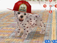 Dalmatian with firemans helmetin Nintendogs Dalmatian & Friends