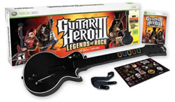 Guitar Hero III: Legends of Rock wireless guitar bundle for Xbox 360 box contents