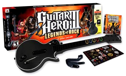 Guitar Hero III: Legends of Rock wireless guitar bundle for PS3 box
