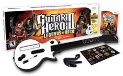 Guitar Hero III: Legends of Rock wireless guitar bundle for Wii box contents