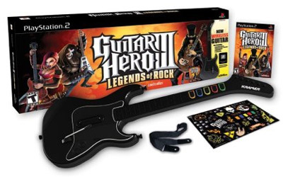Buy Guitar Hero III: Legends of Rock wireless guitar bundle for PS2 box