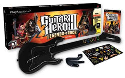 Guitar Hero III: Legends of Rock wireless guitar bundle for PS2 box contents