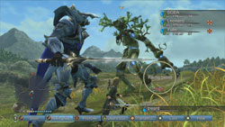 A quest with a character in White Knight form battling a treeish enemy in White Knight Chronicles International Edition