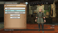 Customization options for playable custom character available in White Knight Chronicles International Edition