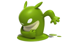 de Blob in green phase in 'de Blob'