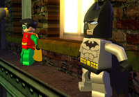 Batman and Robin on a ledge in 'LEGO Batman the Game'
