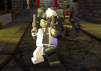 Two-Face and the evil Batman in 'LEGO Batman the Game'