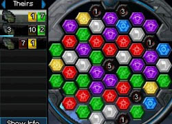 Fast paced match-3 puzzle action in action in 'Puzzle Quest: Galactrix'