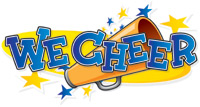 'We Cheer' game logo