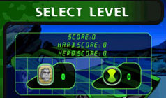Levels and upgrade screen in 'Ben 10: Alien Force'