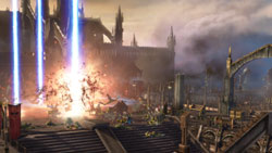 A devastating orbital strike in 'Warhammer 40,000: Dawn of War II'