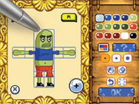 Sketch pad for drawing heroes, items, etc. in Drawn to Life: Spongebob Squarepants Edition