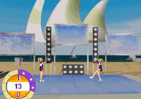 One-on-one cheer off action in 'All Star Cheer Squad' for DS