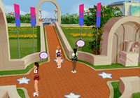 Talking to other cheerleaders in 'All Star Cheer Squad' for DS