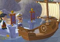 boarding a boat in ''MySims Kingdom''
