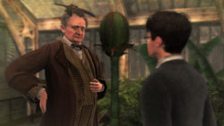 Harry with NPC in 'Harry Potter and the Half-Blood Prince' the Video Game