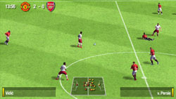 Open field offensive move in 'FIFA Soccer 09' for PSP