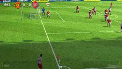 A corner kick in 'FIFA Soccer 09' for PSP