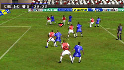 An offensive set piece in 'FIFA Soccer 09' for DS