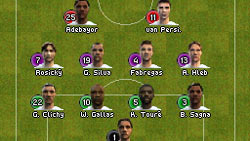 Squad selection in 'FIFA Soccer 09' for DS