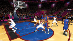 Running the offense in singleplayer mode in 'NBA Live 09 All-Play'
